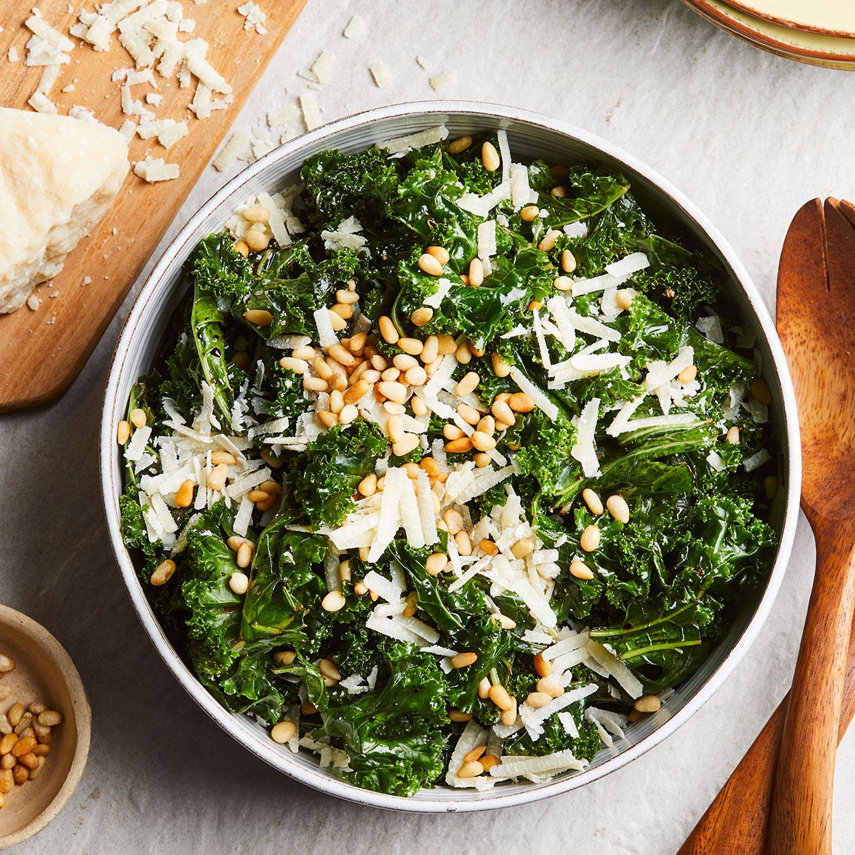 Kale Salad with Balsamic & Parmesan Trusted Brands