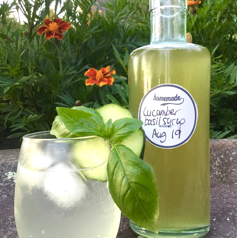Cucumber-Basil Syrup
