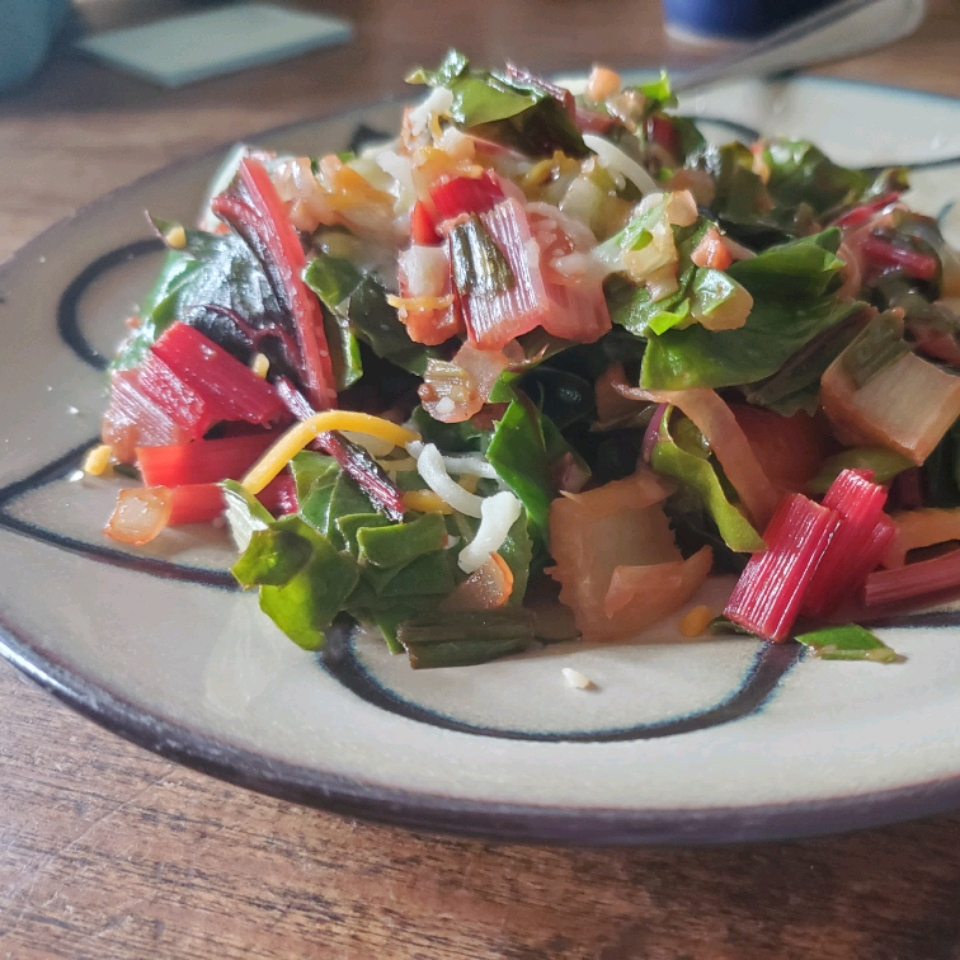 Warm Swiss Chard and Mushroom Salad Colleen Seal