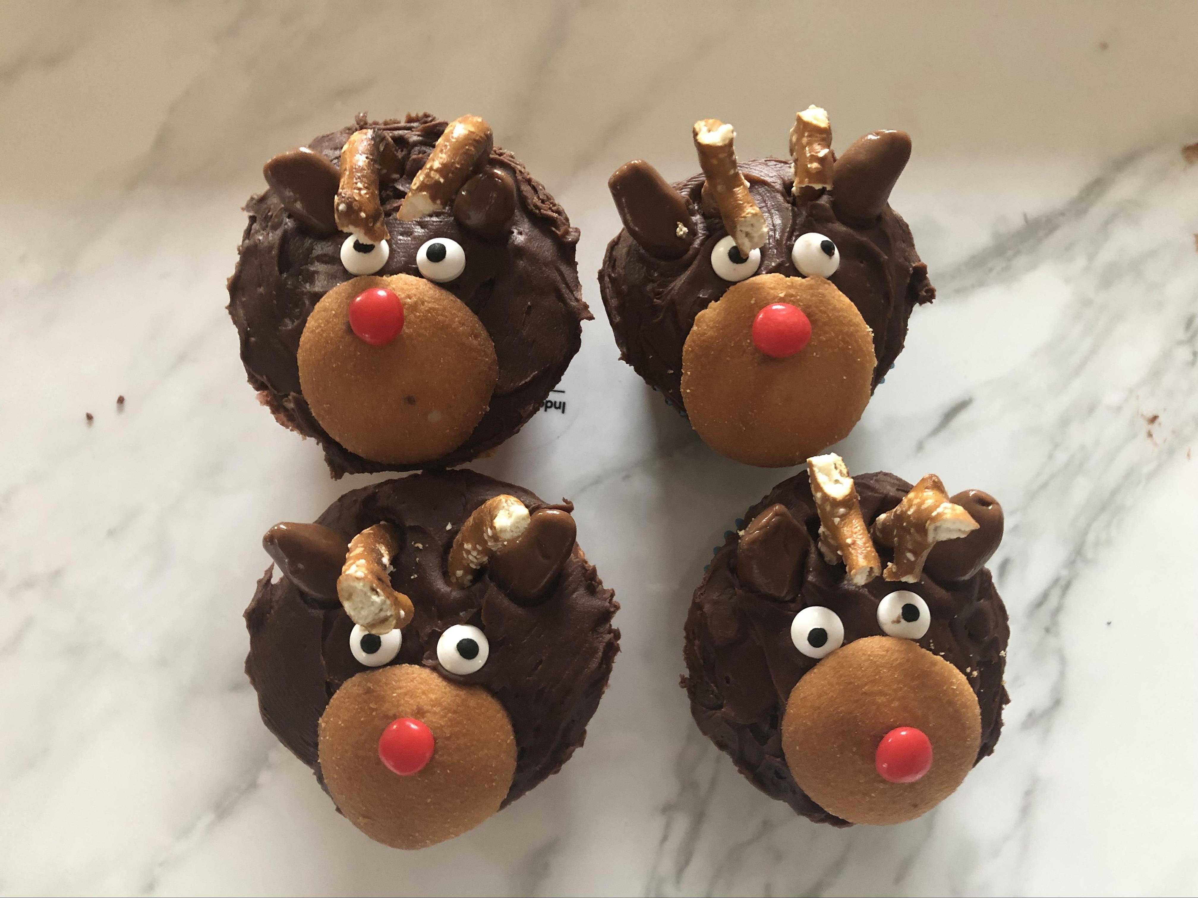 Christmas Reindeer Cupcakes AllrecipesPhoto