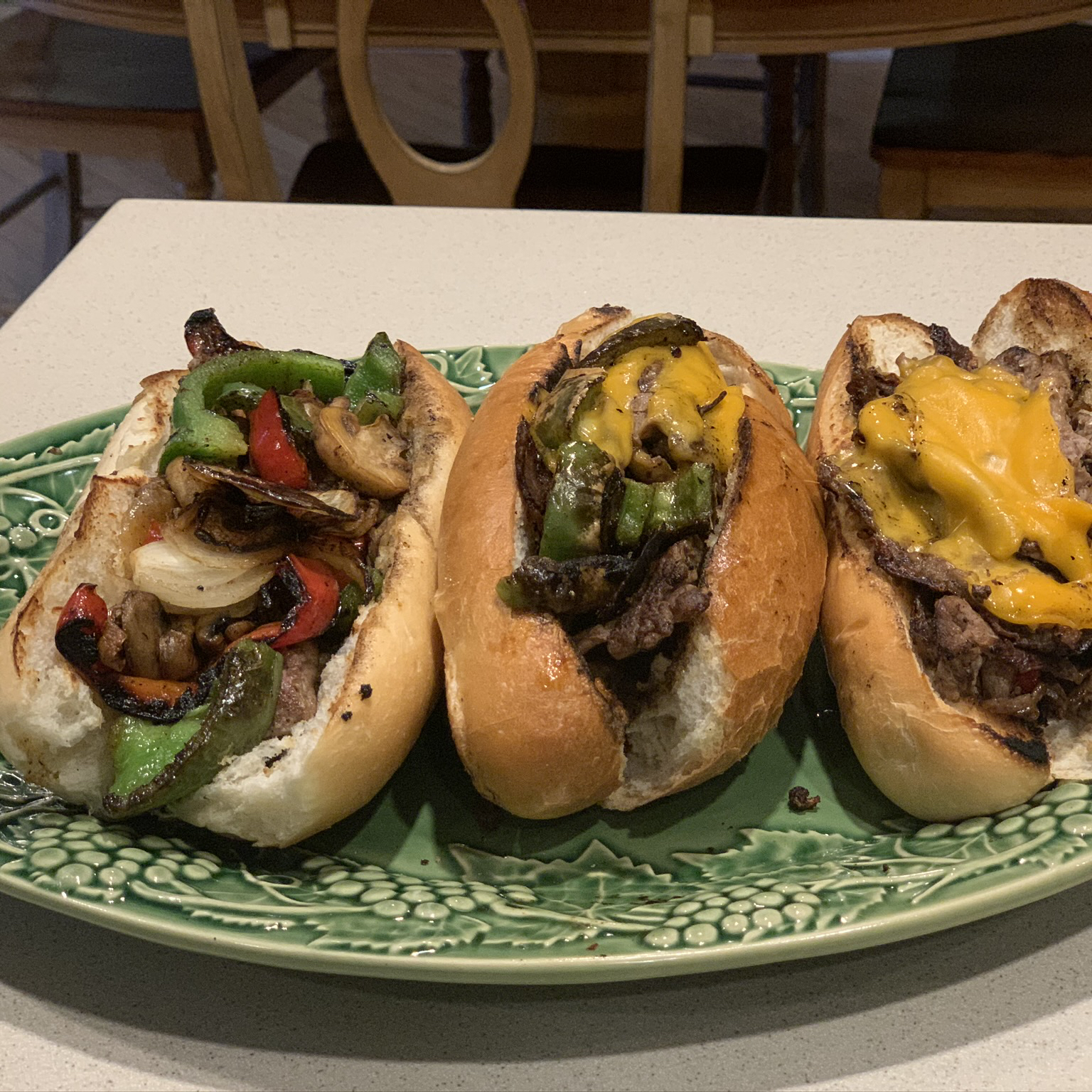 Griddle Style Philly Steak Sandwiches