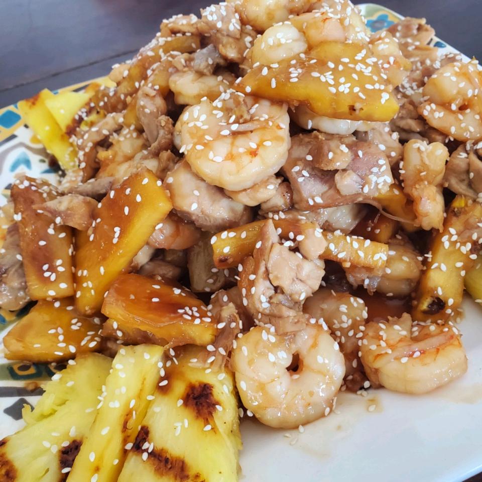 Grilled Teriyaki Shrimp and Pineapple Skewers