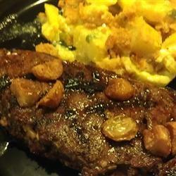 Garlic Steak with Garlic Love2CookMommy