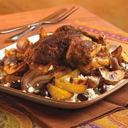 Roast Chicken with Potato, Olives and Greek Seasoning Trusted Brands