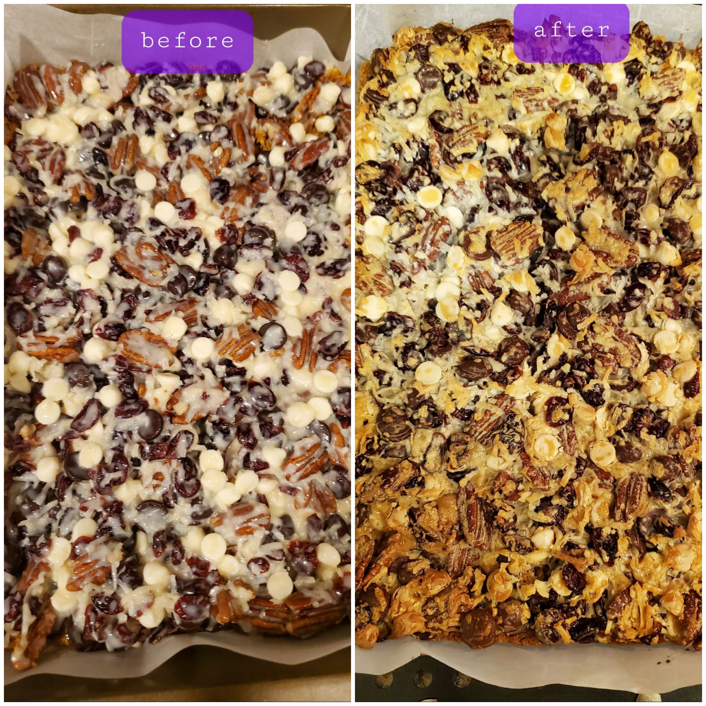 Coconut-Cranberry Bars with Pecans Ms. Kay