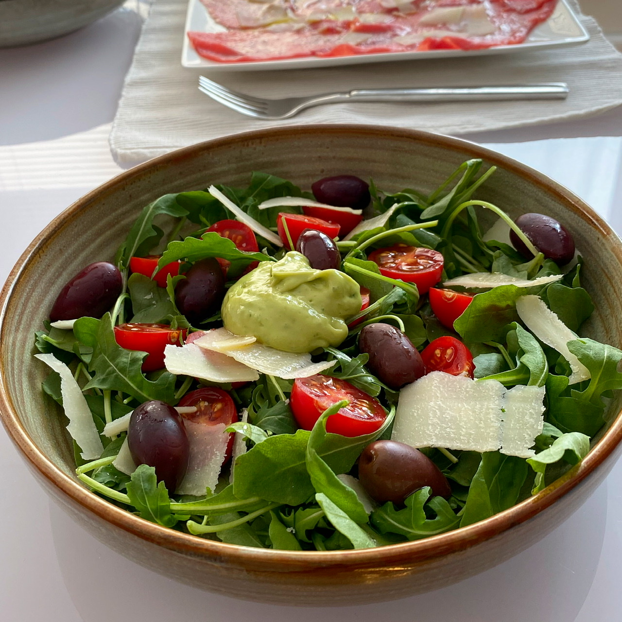 Arugula Salad with Avocado Citrus Vinaigrette Buckwheat Queen
