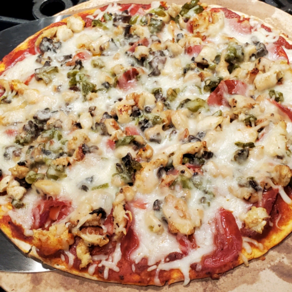 Jerk Chicken Pizza Janie Dorsey