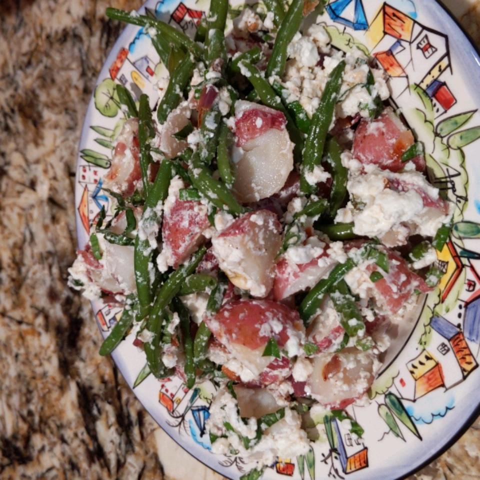 Warm Green Bean and Potato Salad with Goat Cheese Laura Ross McGlothlin