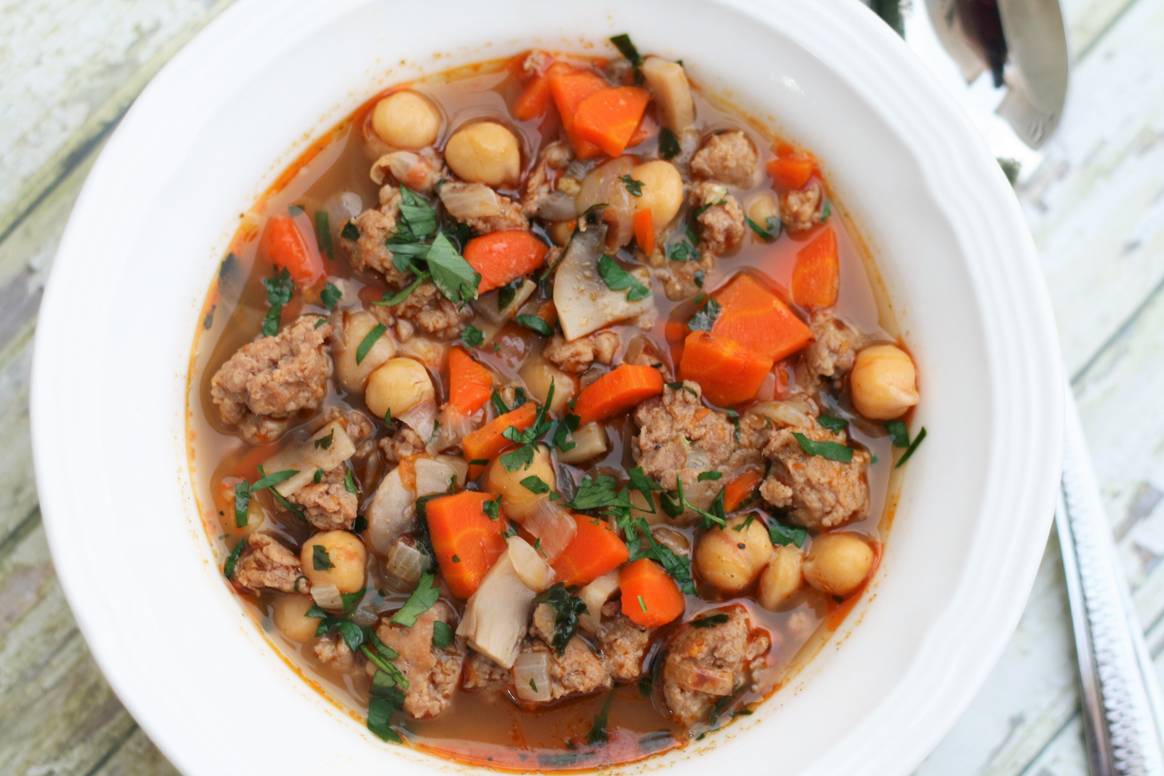 Italian Sausage and Bean Soup France C