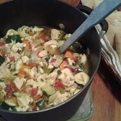 Chicken Tortellini Soup With Zucchini and Tomatoes Leah