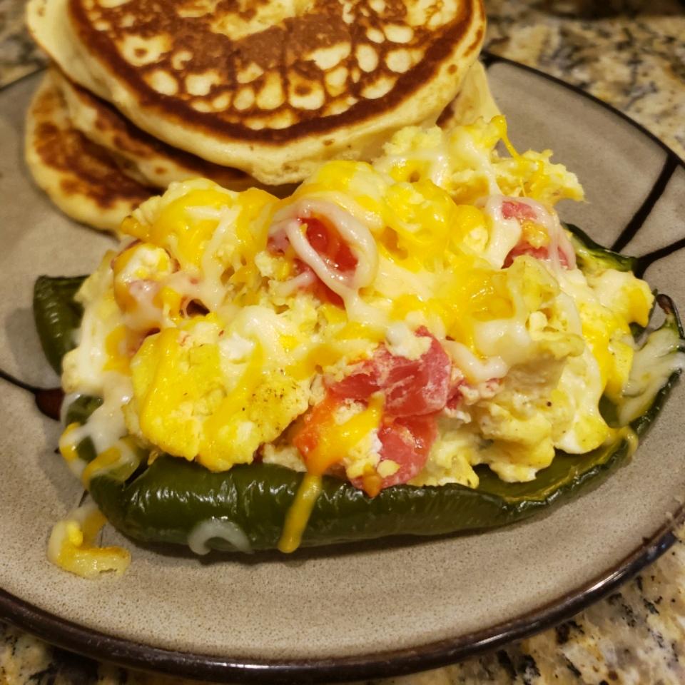 Breakfast Stuffed Poblano Peppers RendJe