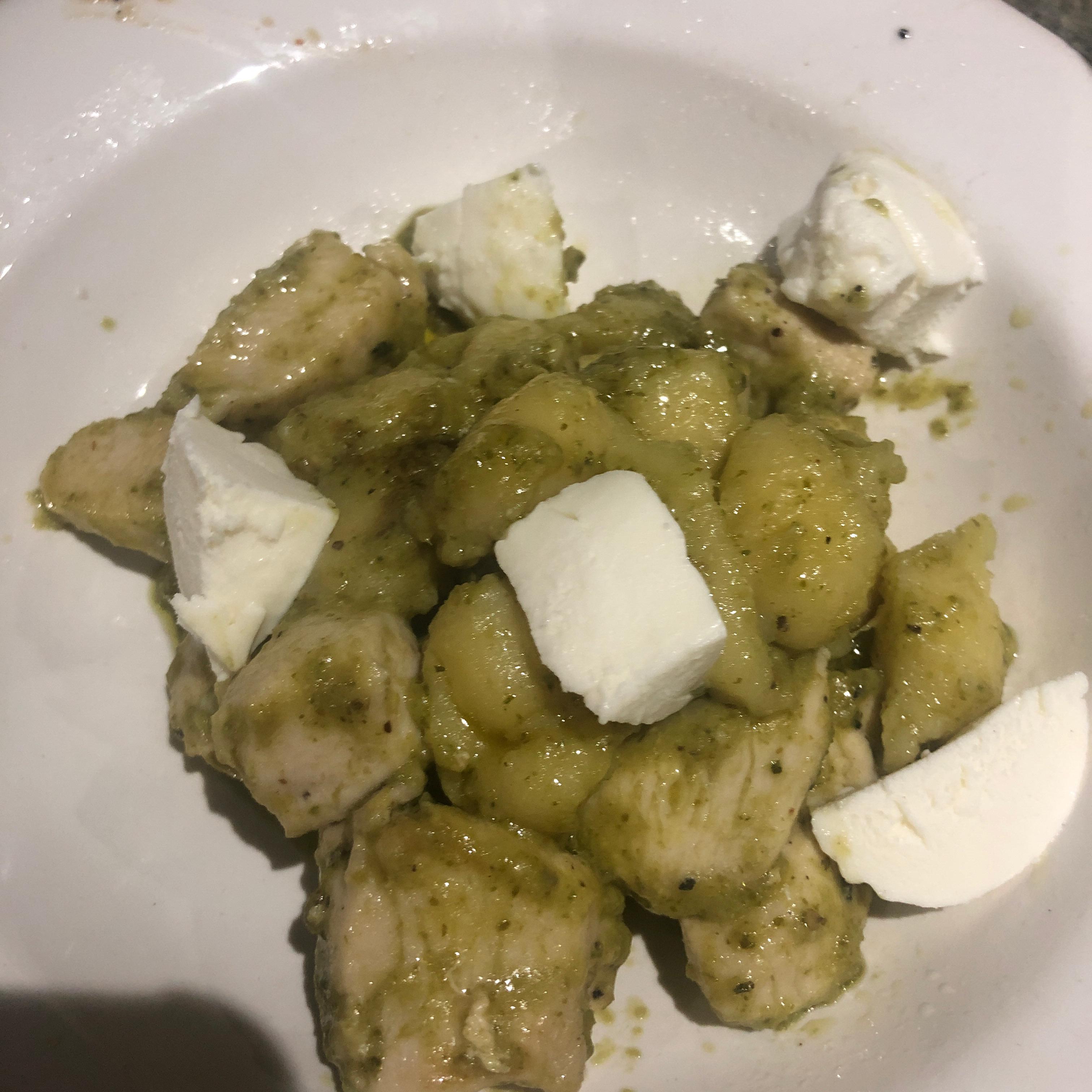 Gnocchi with Chicken, Pesto and Fresh Mozzarella Jenn Durgin