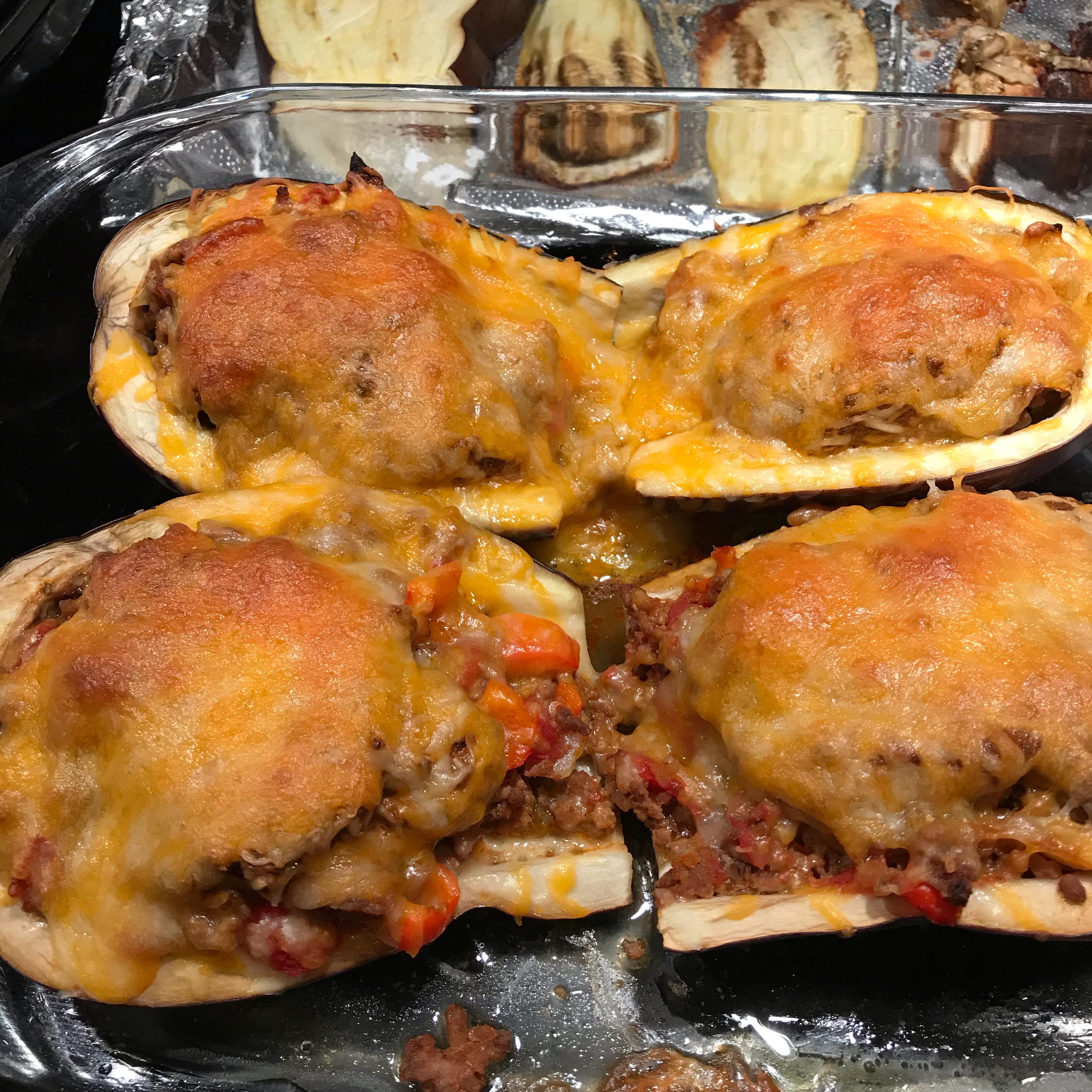 Taco-Stuffed Zucchini Boats Kim P