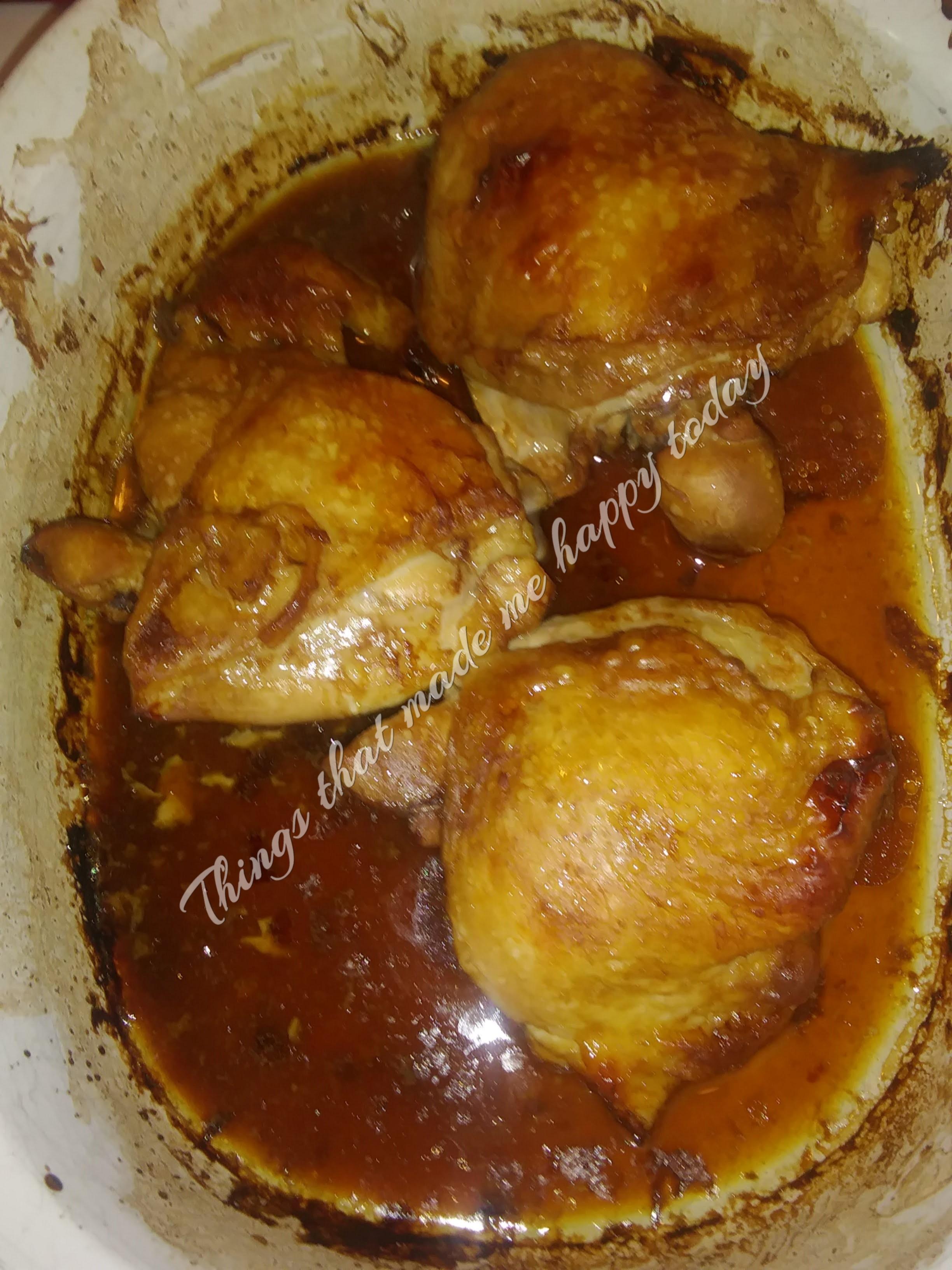Oven-Baked Teriyaki Chicken Thighs Becky Jo