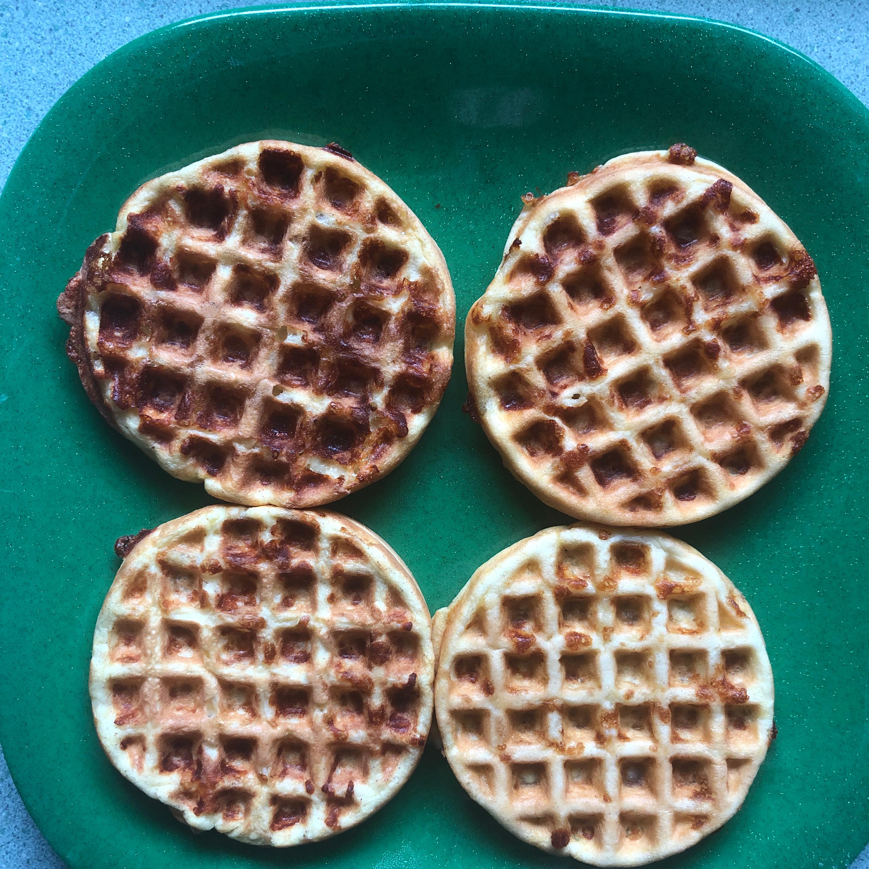 Chaffles with Almond Flour 3juneaus