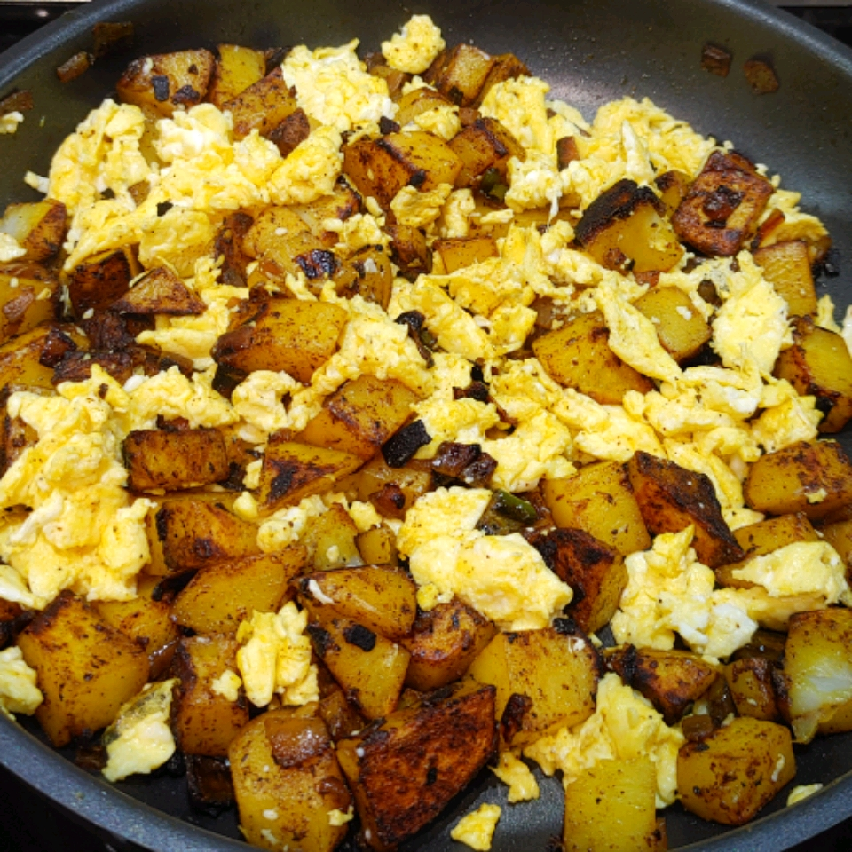 Spicy Potatoes and Scrambled Eggs Debbie