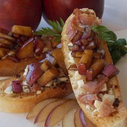 Pear and Prosciutto Bruschetta Baking Nana