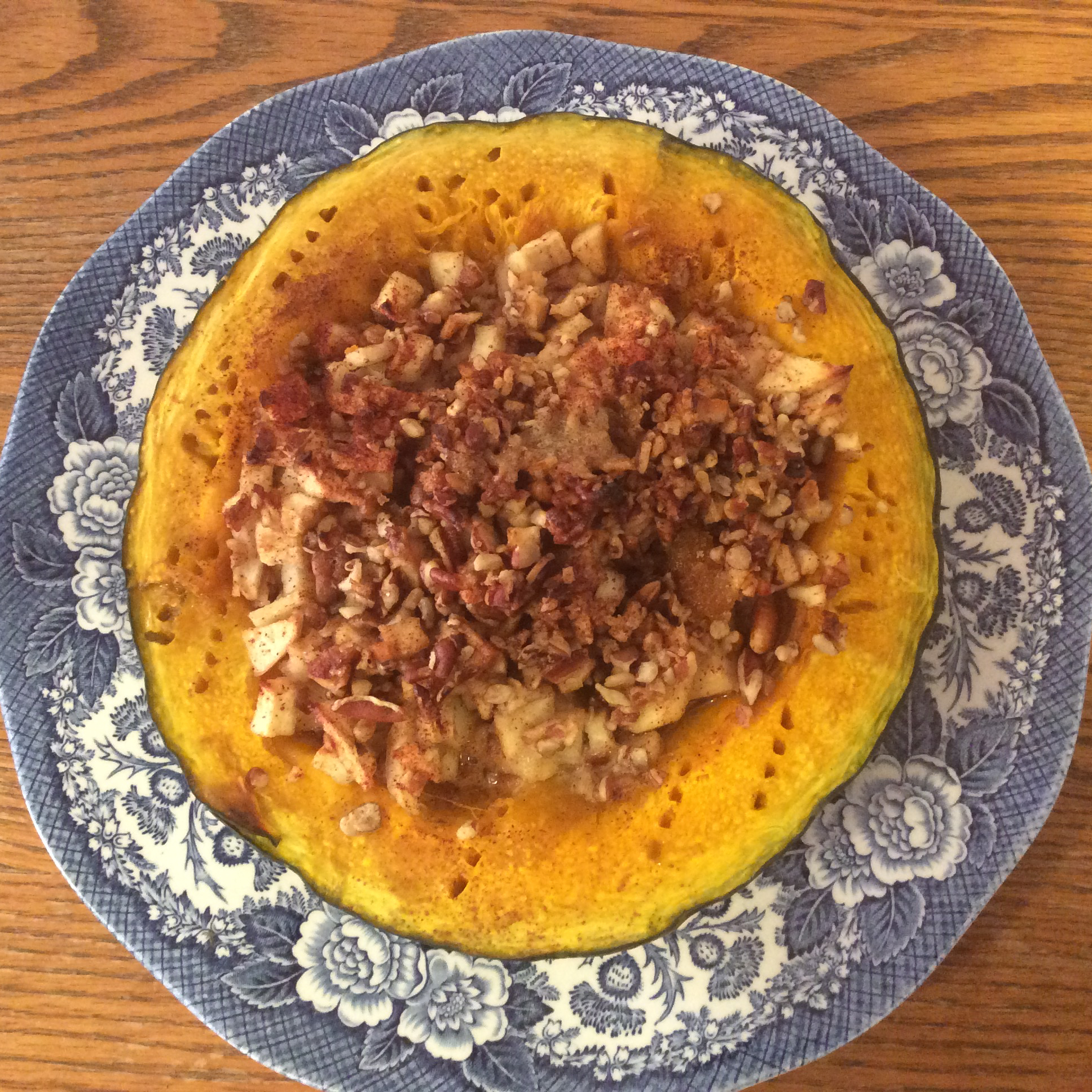 Buttercup Squash with Apples and Pecans Karen