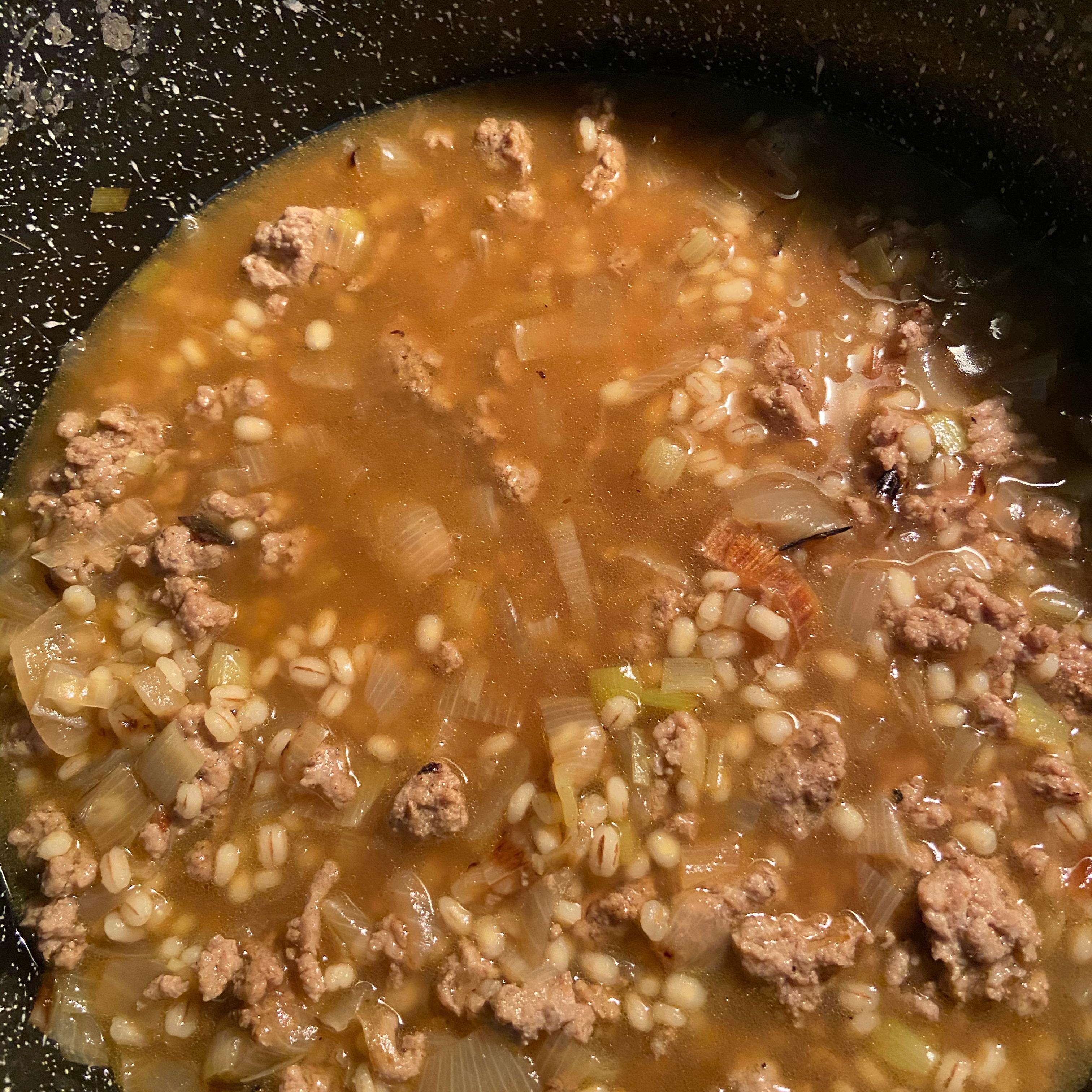Coriander, Barley, Leek Soup TazJules