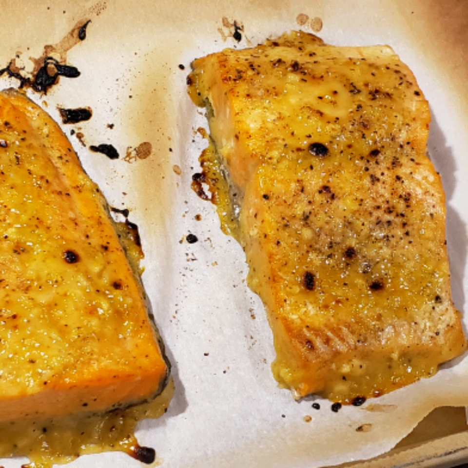 Instant Pot® Honey-Mustard Salmon from Frozen A. Gosejohan