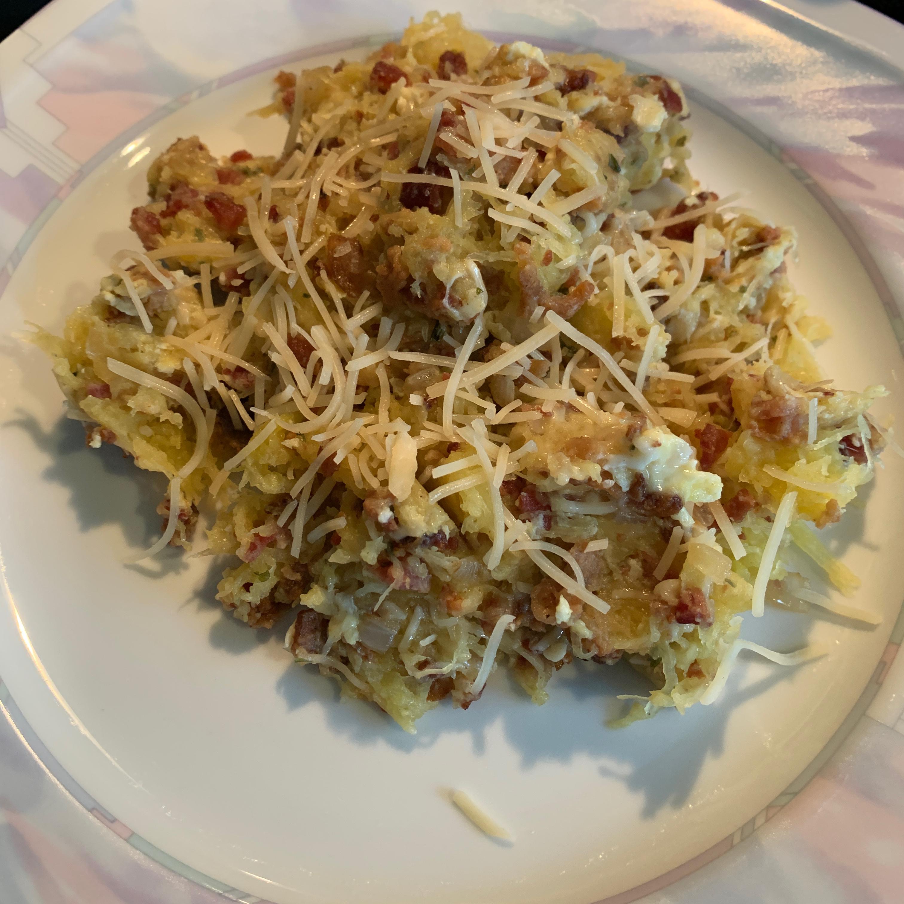 Spaghetti Squash Carbonara Janet Lopez