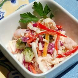 Seafood And Cabbage Salad