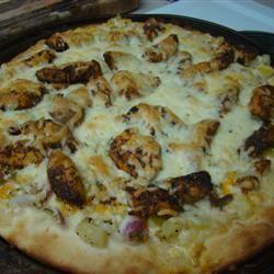 Blackened Chicken Pizza with Yellow Tomato Salsa AJaye2010