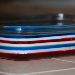 Fourth of July Layered Gelatin