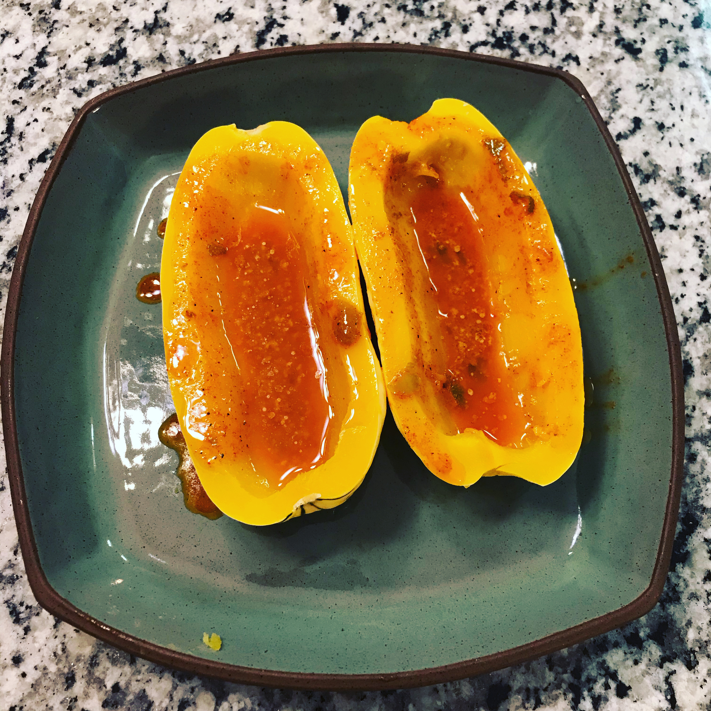 Baked Delicata Squash with Lime Butter Lenore