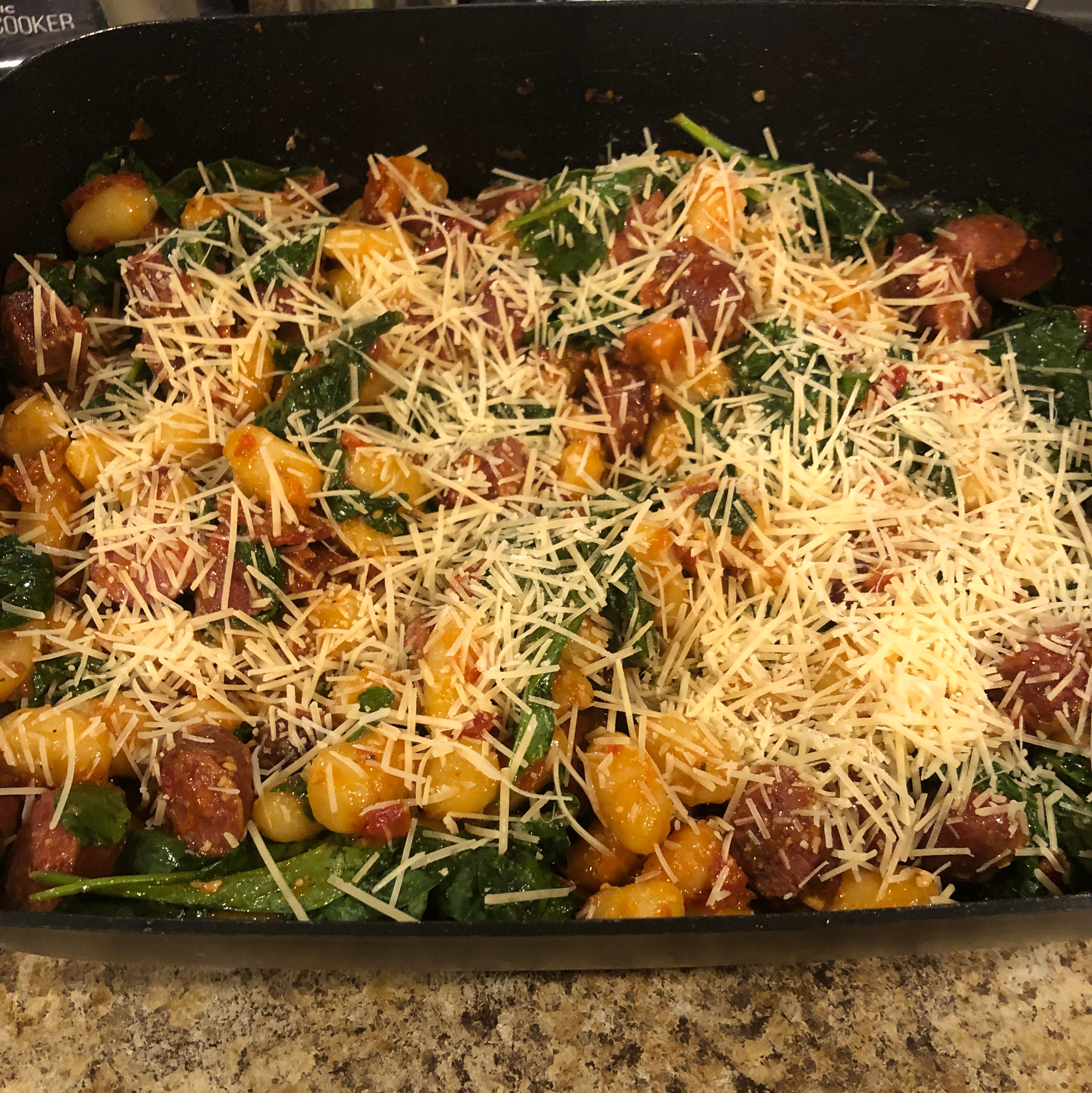 Smoked Sausage Gnocchi with Sun-Dried Tomatoes Tracy ann