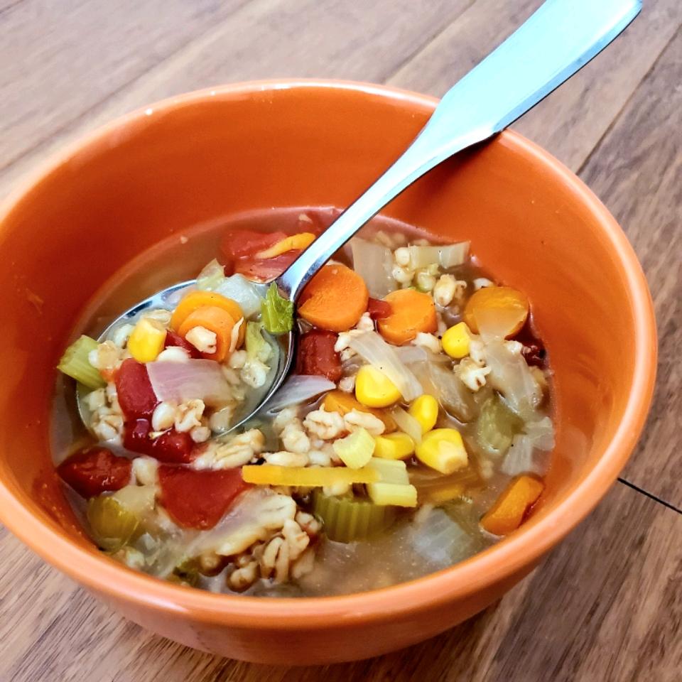 Instant Pot® Vegan Vegetable and Barley Soup