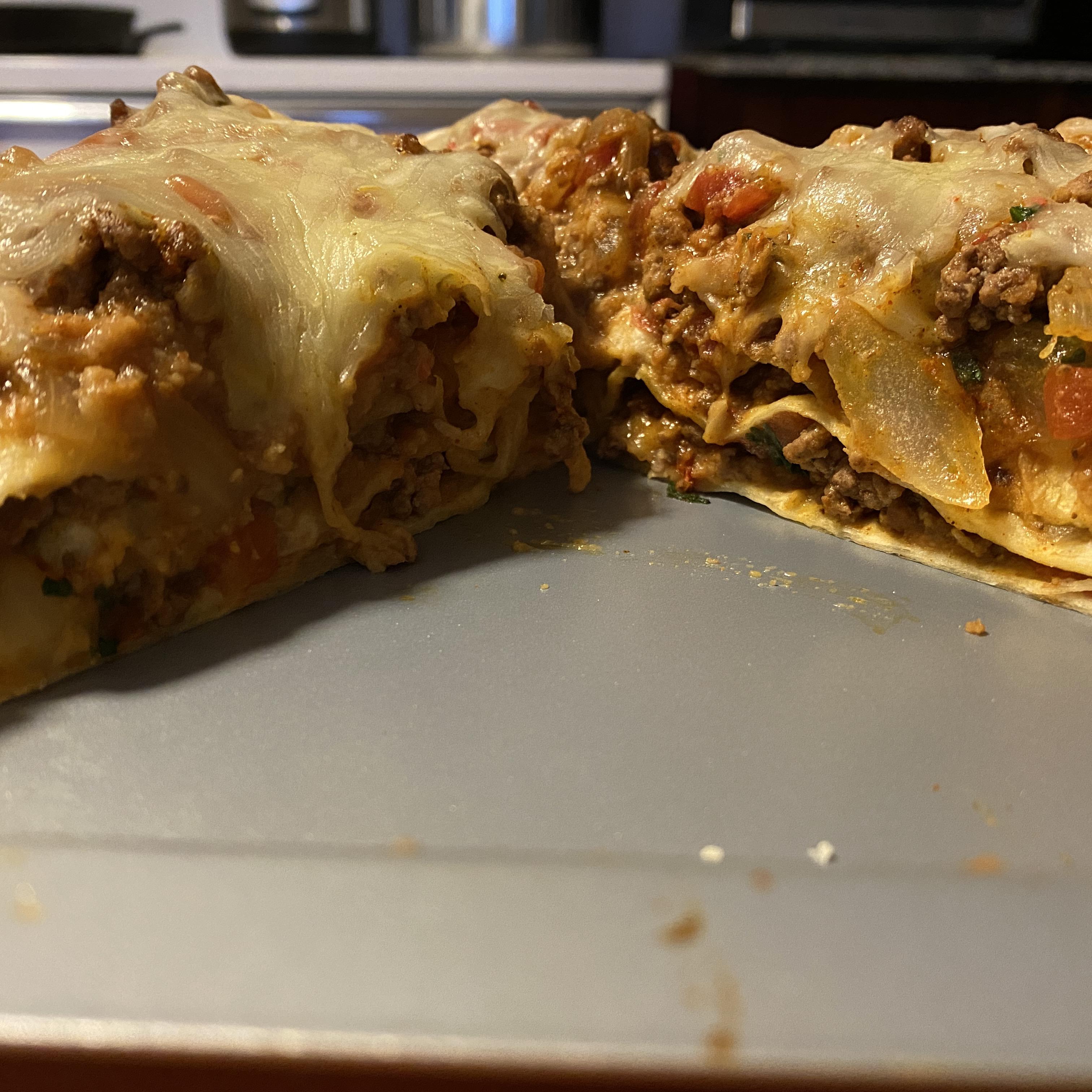 Spicy Beef and Bean Enchilada Pie chadritchie