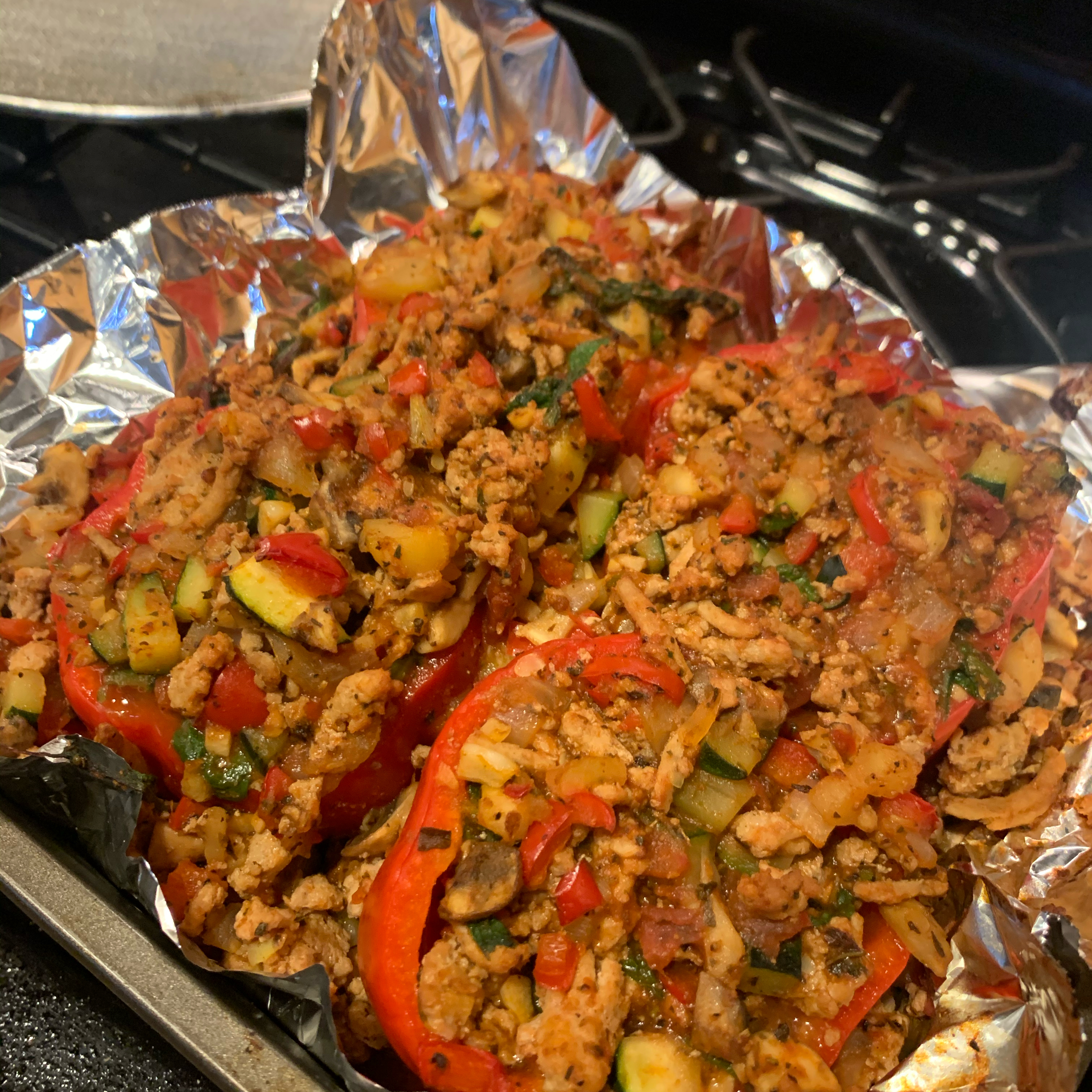 Stuffed Peppers with Turkey and Vegetables Karen Kina