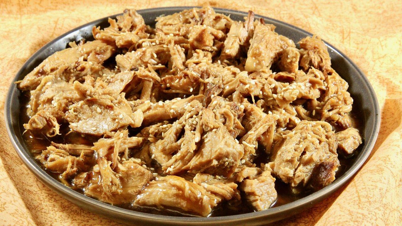 Teriyaki Pulled Pork in the Slow Cooker
