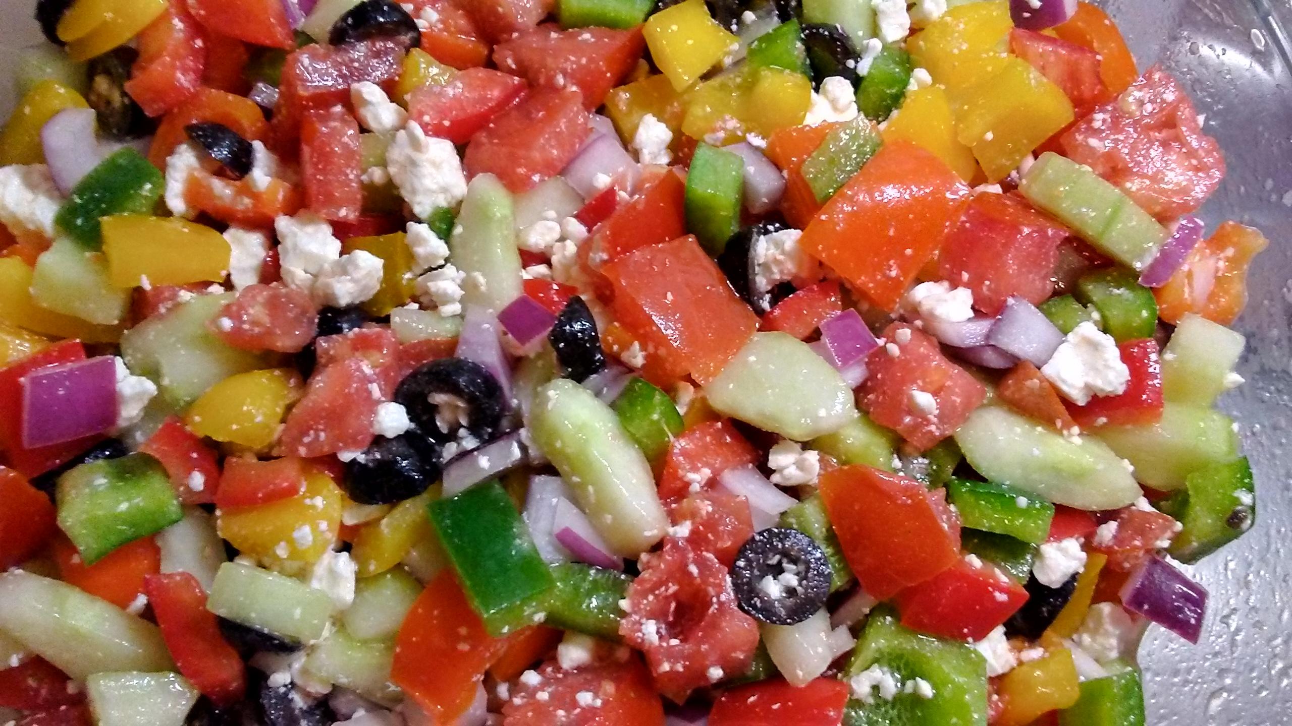 Sylvia's Easy Greek Salad