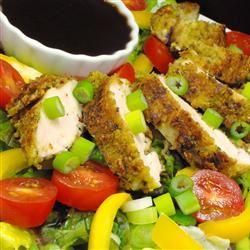 Spinach Salad with Pistachio Chicken