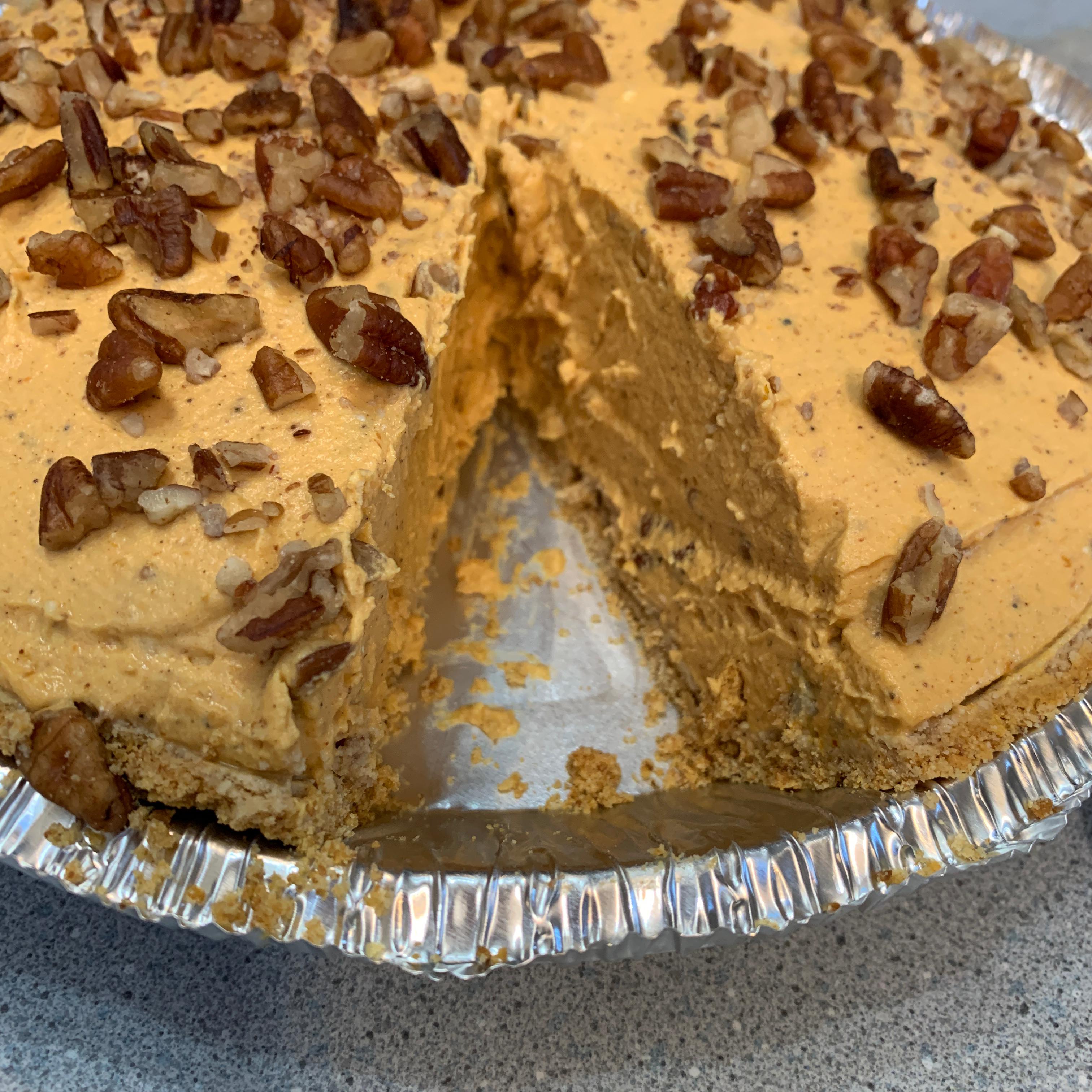 Pumpkin Pecan No-Bake Cheesecake Pie Michele