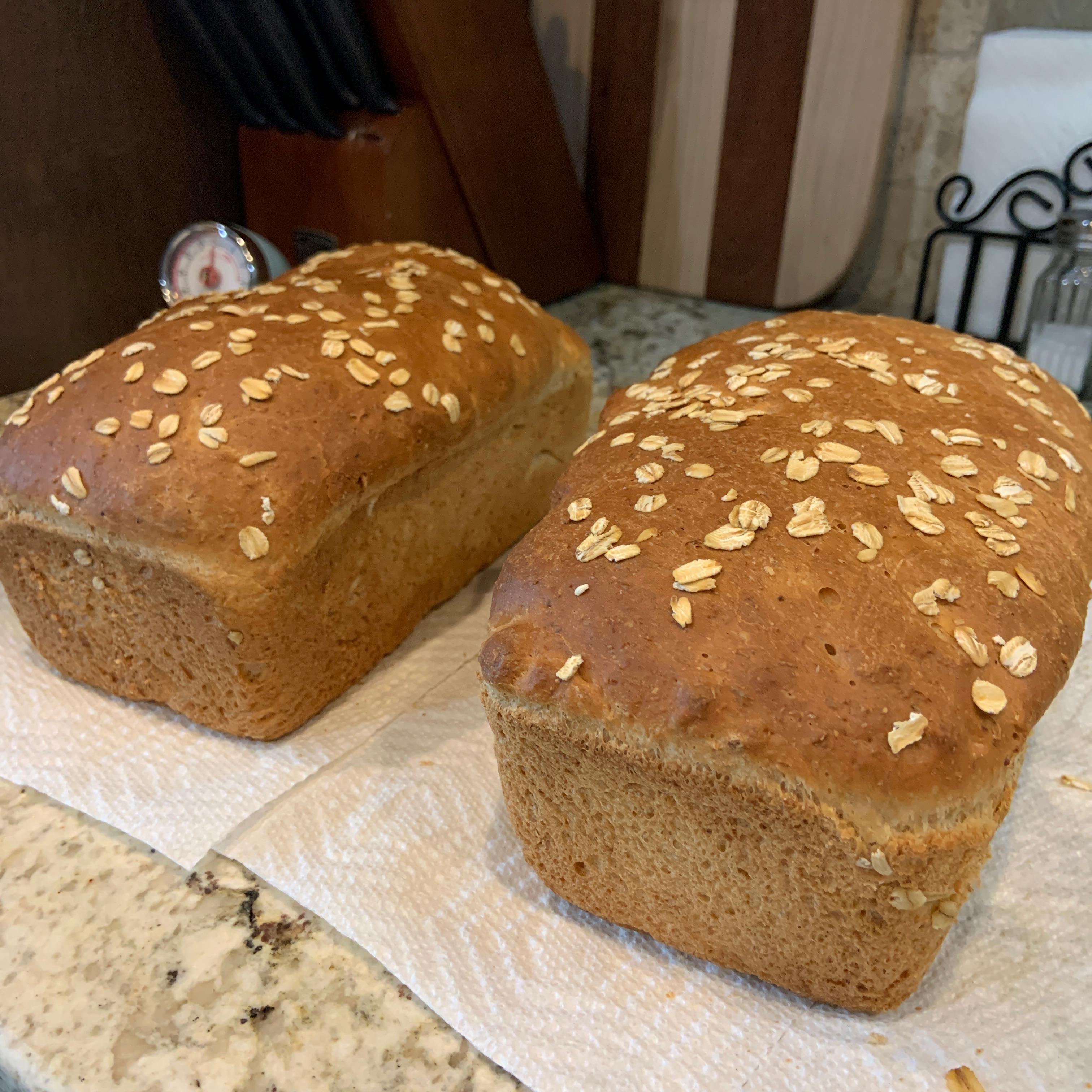 Bread Machine Honey-Oat-Wheat Bread SSGillespie
