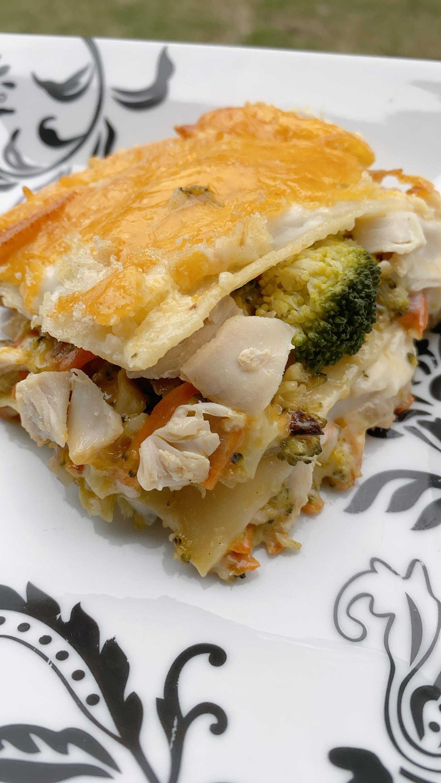 Double Cheddar Rotisserie Chicken Lasagna