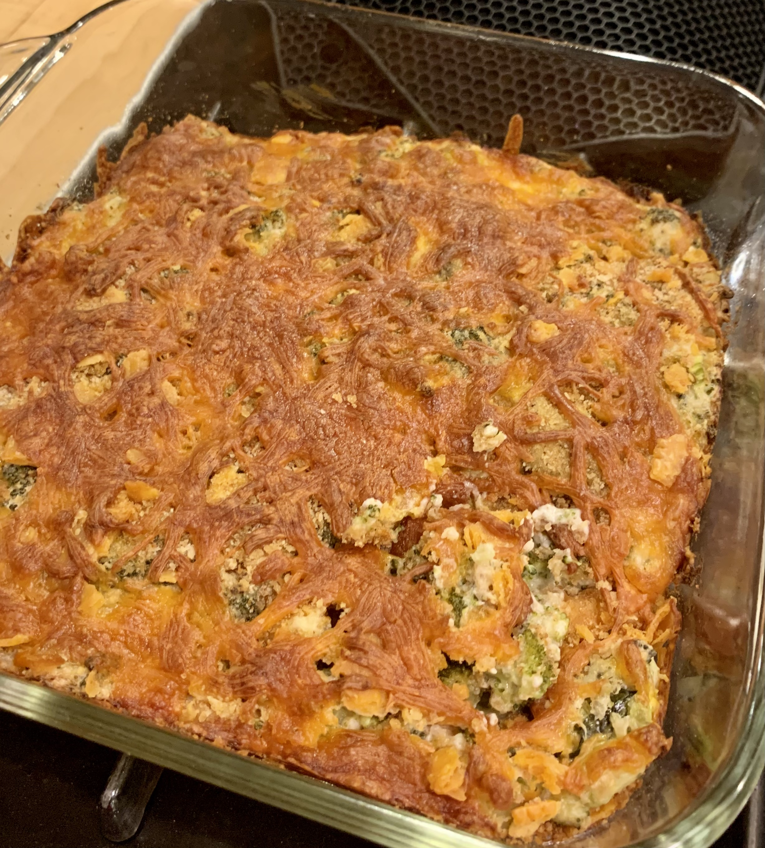 Cheesy Broccoli Casserole FrackFamily5 CA—>CT