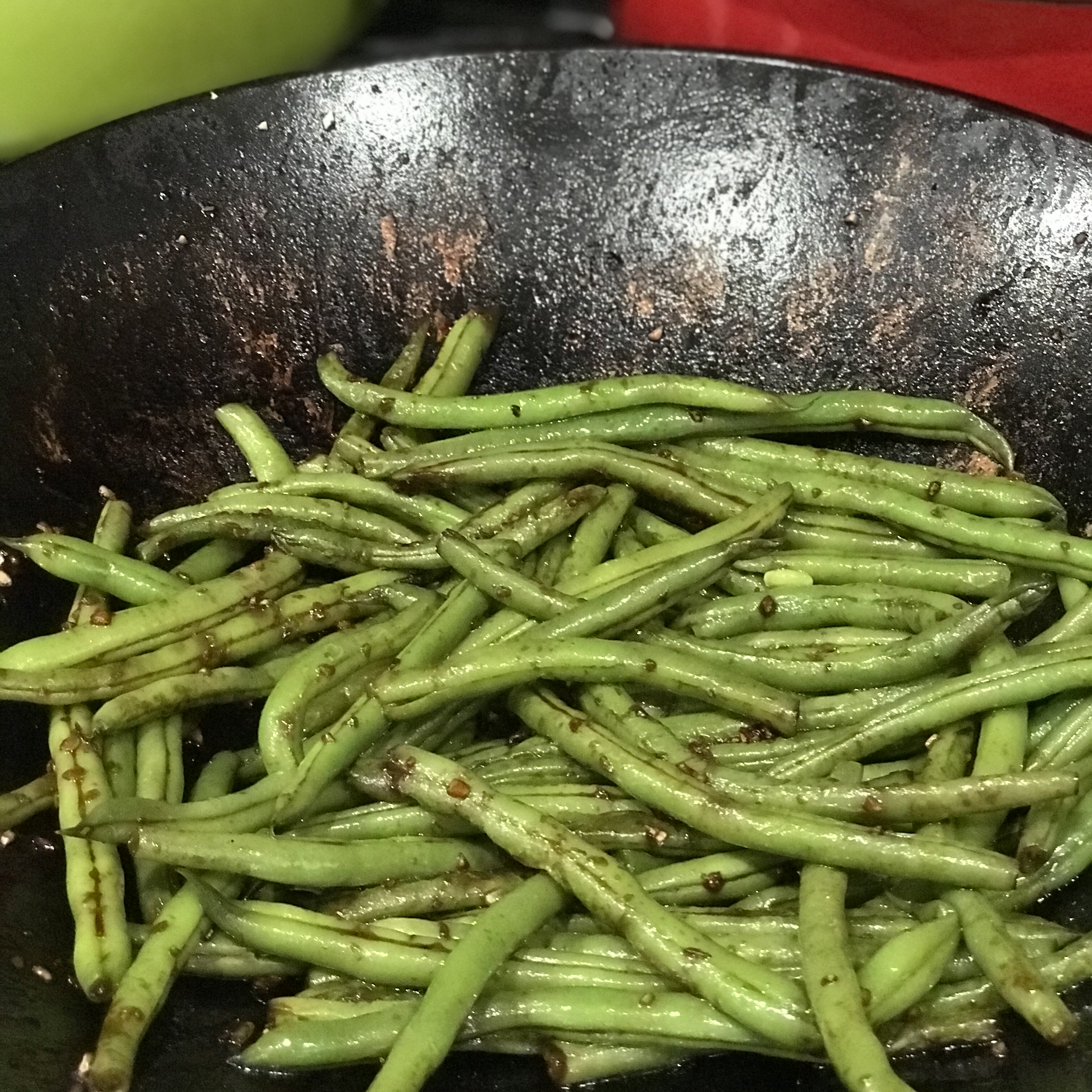 Sweet and Spicy Green Beans Mom5