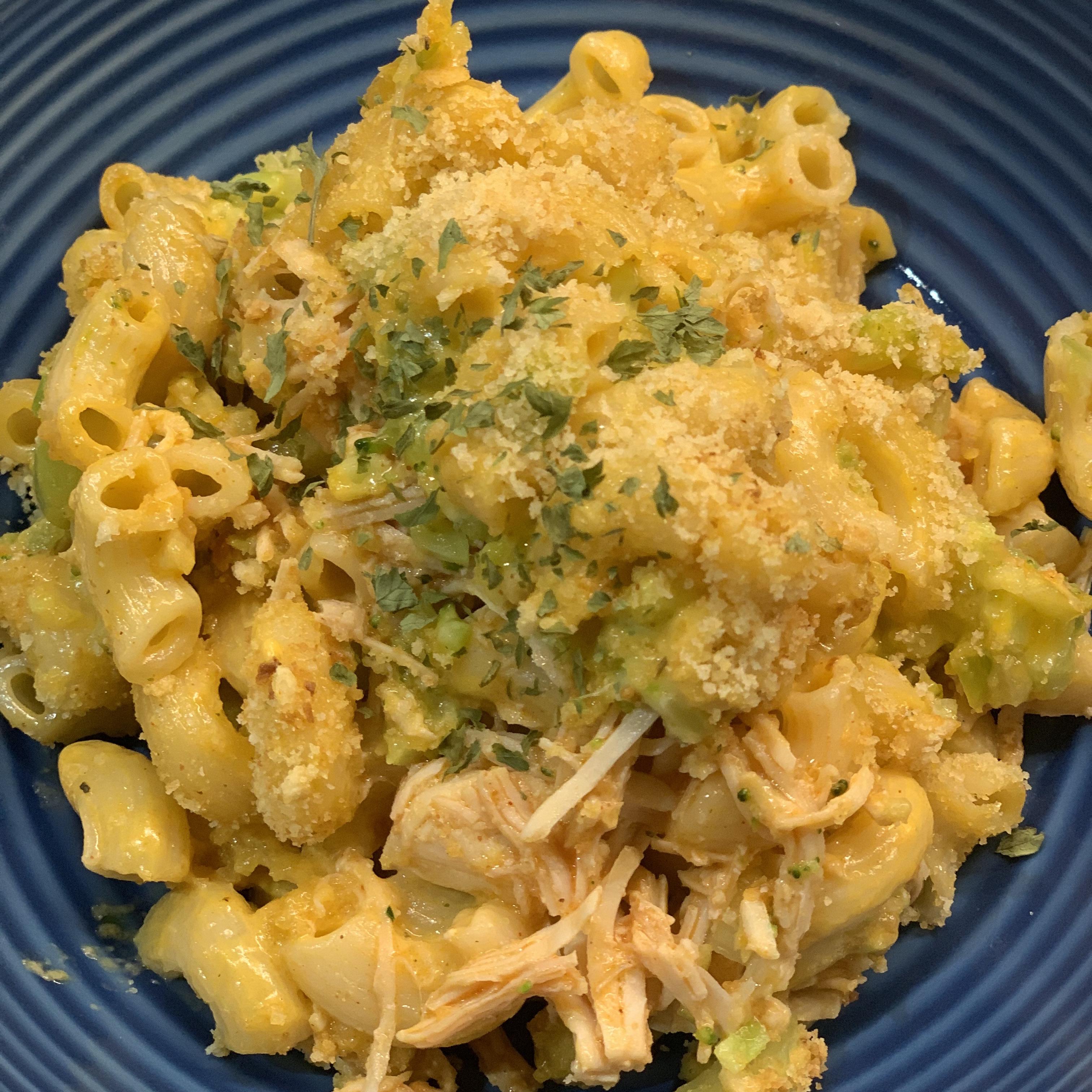 Buffalo Chicken Macaroni and Cheese Kelley Keim