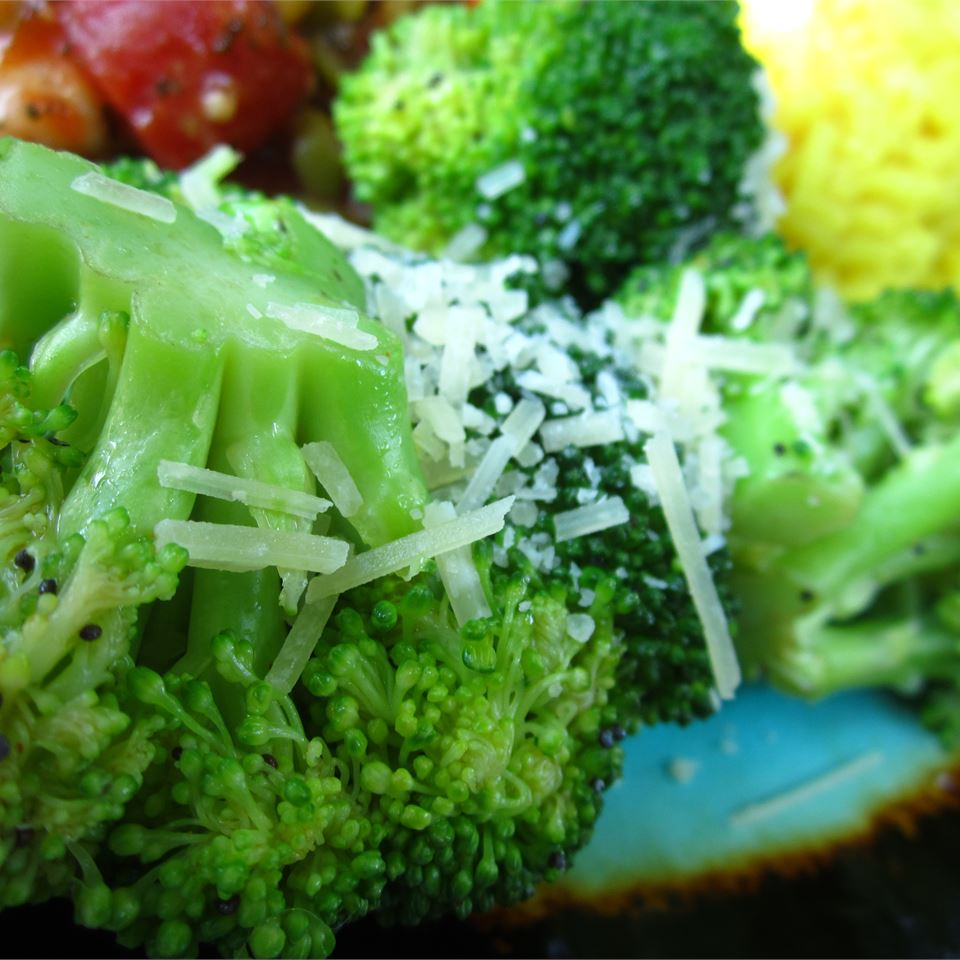 Broccoli with Poppy Seed Butter and Parmesan Cheese pomplemousse