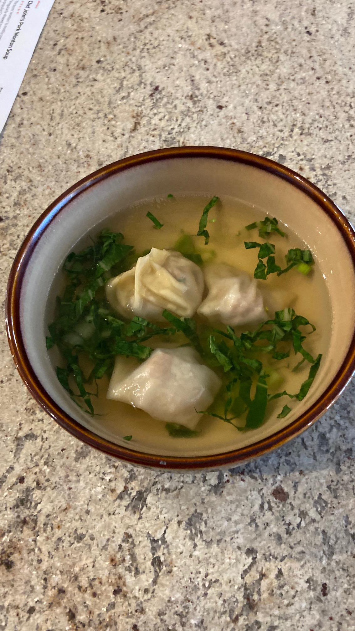 Pork Wonton Soup Howard W