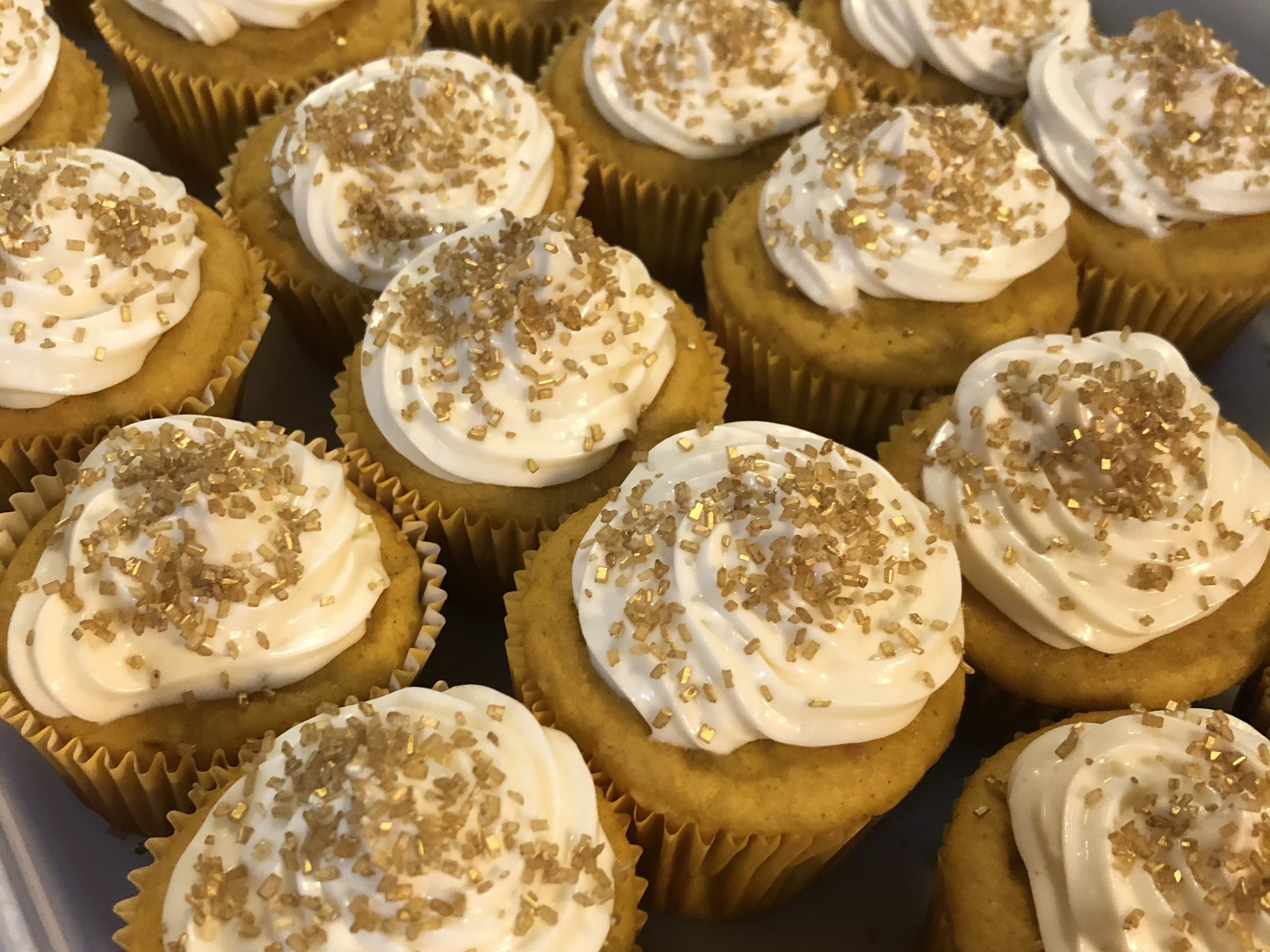 Sweet Pumpkin Cupcakes with Cream Cheese Frosting Christine Fotion Bavone