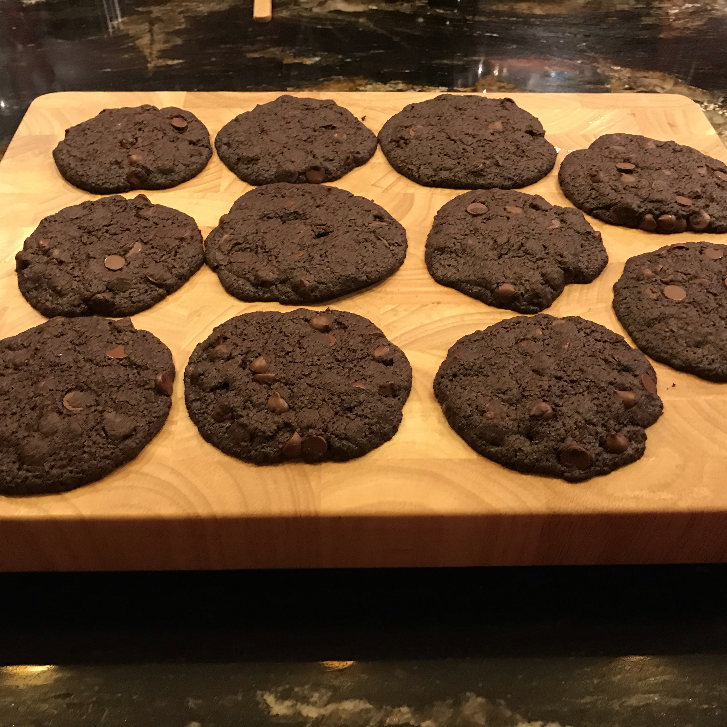 Vegan Chocolate Chocolate Chip Cookies