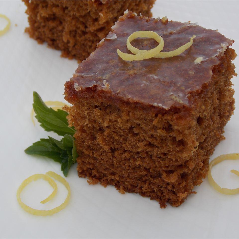 Gingerbread Cake with Lemon Glaze