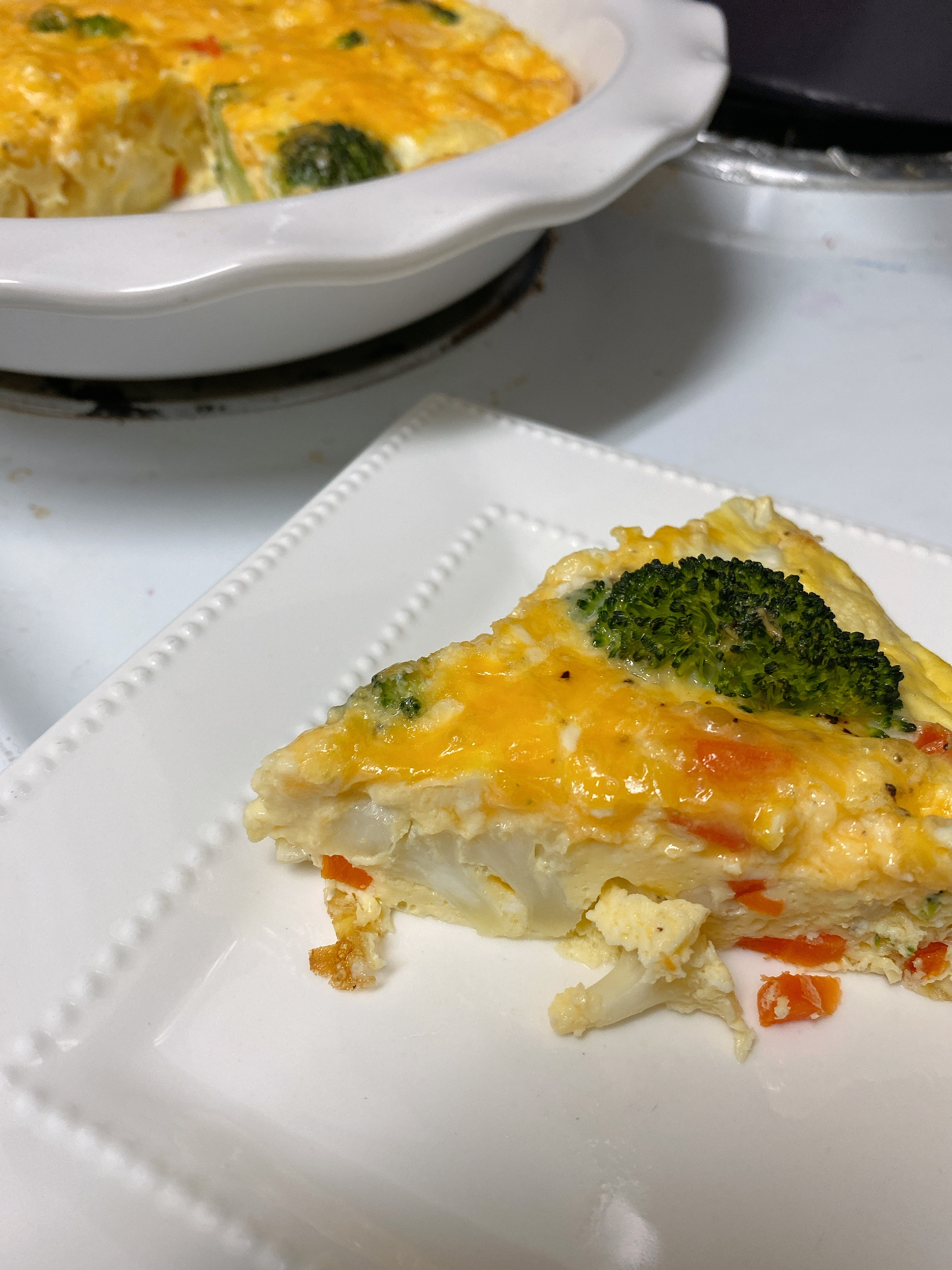 Vegetable Frittata with Cheddar