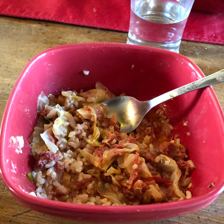 Filipino Corned Beef and Cabbage kimbo