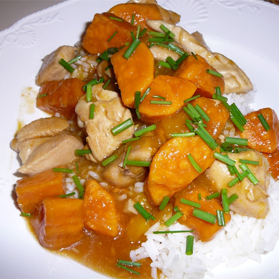 Spicy Mango Sweet Potato Chicken Maddy Leitch
